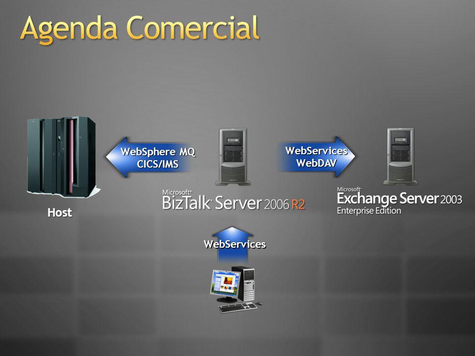 WebSphere MQ CICS/IMS WebServicesWebDAV WebServices Host