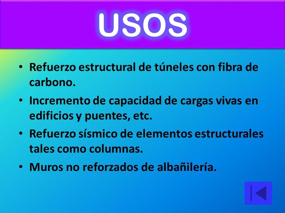 Refuerzo estructural de túneles con fibra de carbono.