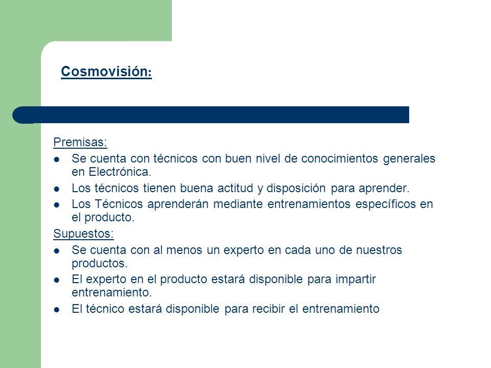 Premisas: Se cuenta con técnicos con buen nivel de conocimientos generales en Electrónica. Los técnicos tienen buena actitud y disposición para aprend