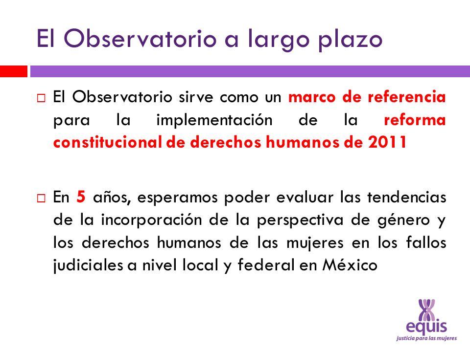 El Observatorio a largo plazo El Observatorio sirve como un marco de referencia para la implementación de la reforma constitucional de derechos humano