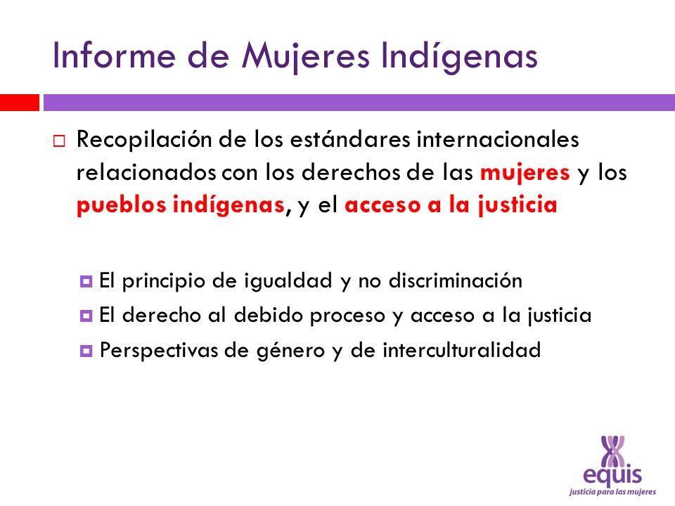 Informe de Mujeres Indígenas Recopilación de los estándares internacionales relacionados con los derechos de las mujeres y los pueblos indígenas, y el