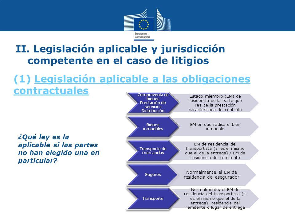 ¿Qué ley es la aplicable si las partes no han elegido una en particular.