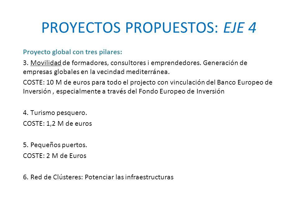 PROYECTOS PROPUESTOS: EJE 4 Proyecto global con tres pilares: 3.