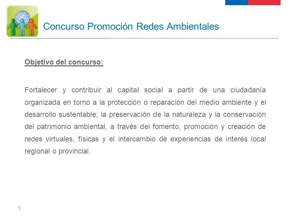 Objetivo del concurso: Fortalecer y contribuir al capital social a partir de una ciudadanía organizada en torno a la protección o reparación del medio