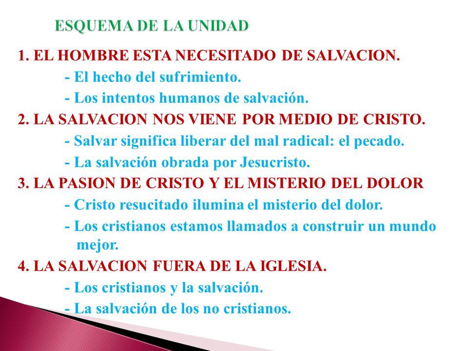 1.EL HOMBRE ESTA NECESITADO DE SALVACION. - El hecho del sufrimiento.