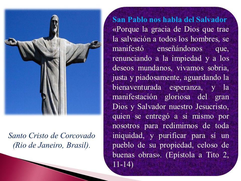 La salvación es lo que mejor define el cristianismo. La promesa de un salvador contenida en el Protoevangelio (Gn 3, 15) se cumple con la venida al mu