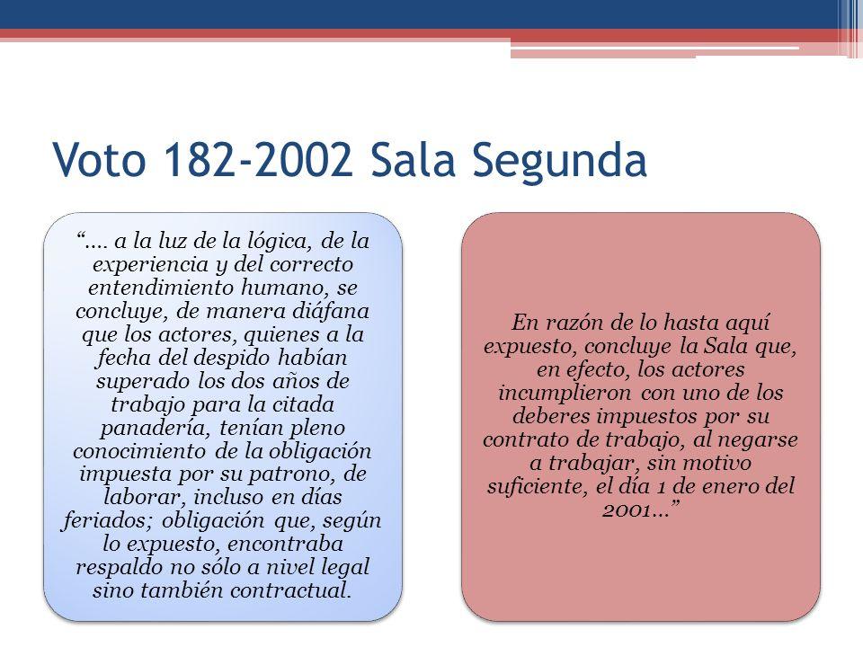 Voto 182-2002 Sala Segunda …. a la luz de la lógica, de la experiencia y del correcto entendimiento humano, se concluye, de manera diáfana que los act