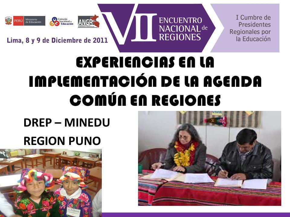 El 14 de octubre del año 20011, en la región Puno se realiza el Primer Encuentro Intergubernamental entre el Ministerio de Educación y el Gobierno Regional Puno Este evento se lleva a cabo en la comunidad campesina de Socca, distrito aimara de Acora, a orillas del Lago Titikaka HITO HISTÓRICO: ENCUENTRO MINEDU – GOBIERNO REGIONAL SOCCA - ACORA