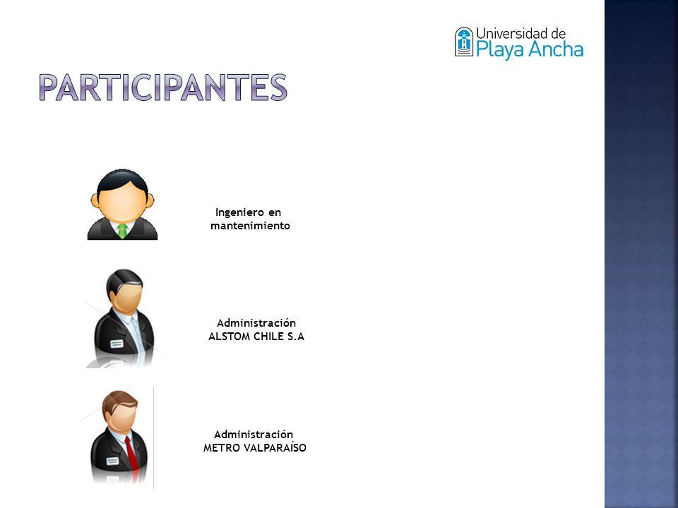 Ingeniero en mantenimiento Administración ALSTOM CHILE S.A Administración METRO VALPARAÍSO