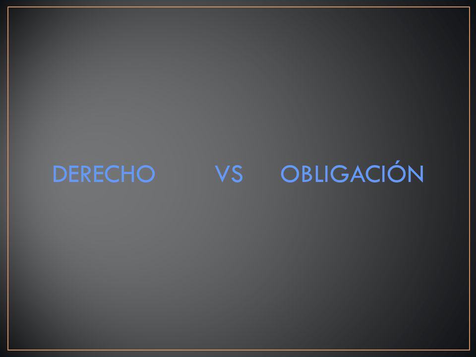 DERECHO VS OBLIGACIÓN