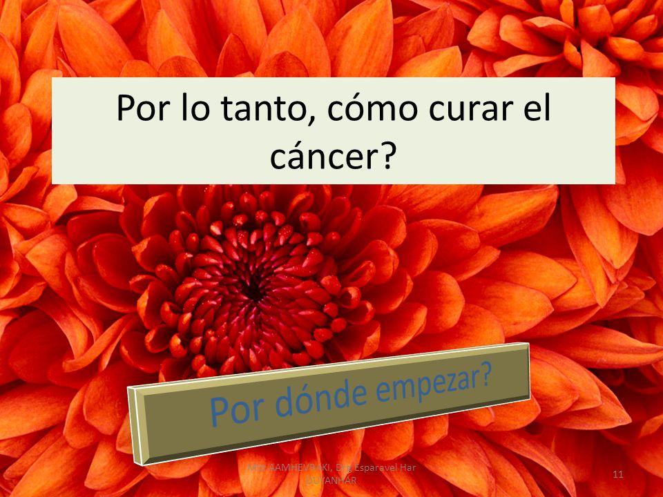 Por lo tanto, cómo curar el cáncer? 11 Mht AAMHEVRAKI, Drg Esparavel Har DUYANHAR