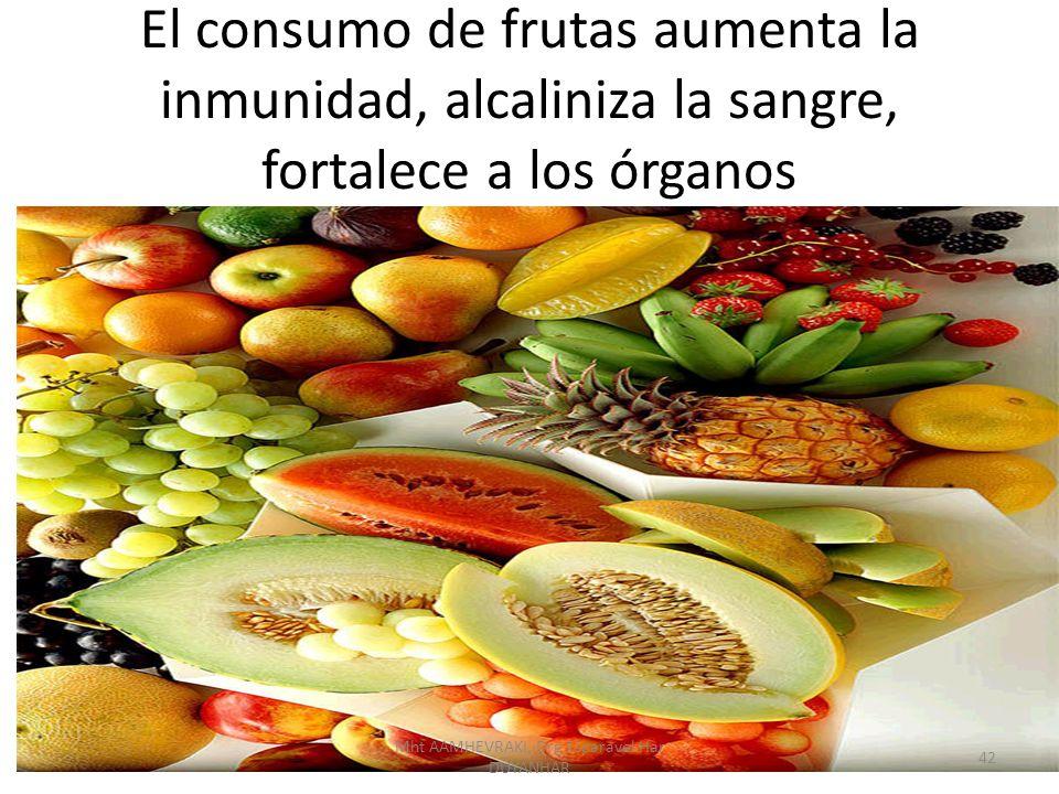 El consumo de frutas aumenta la inmunidad, alcaliniza la sangre, fortalece a los órganos 42 Mht AAMHEVRAKI, Drg Esparavel Har DUYANHAR