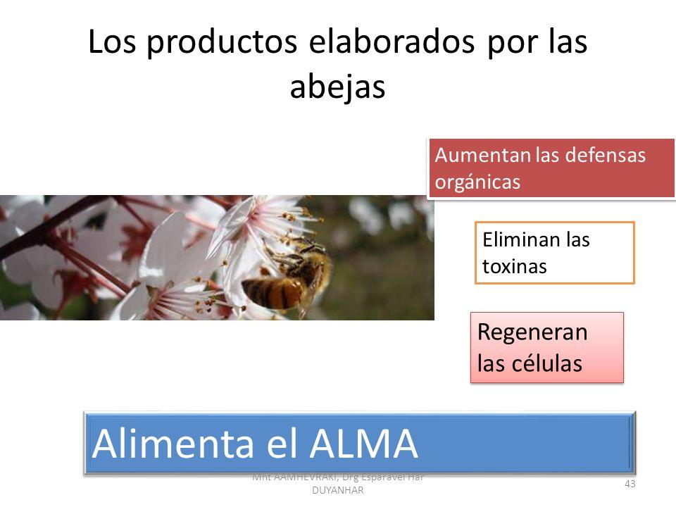 Los productos elaborados por las abejas Aumentan las defensas orgánicas Eliminan las toxinas Regeneran las células Alimenta el ALMA 43 Mht AAMHEVRAKI, Drg Esparavel Har DUYANHAR