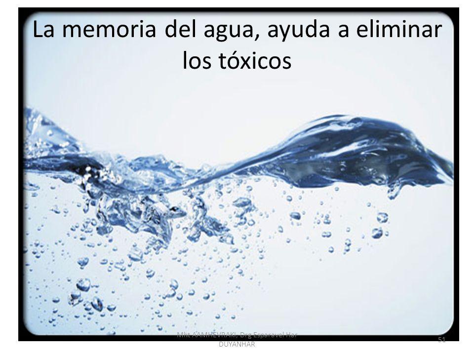 La memoria del agua, ayuda a eliminar los tóxicos 51 Mht AAMHEVRAKI, Drg Esparavel Har DUYANHAR