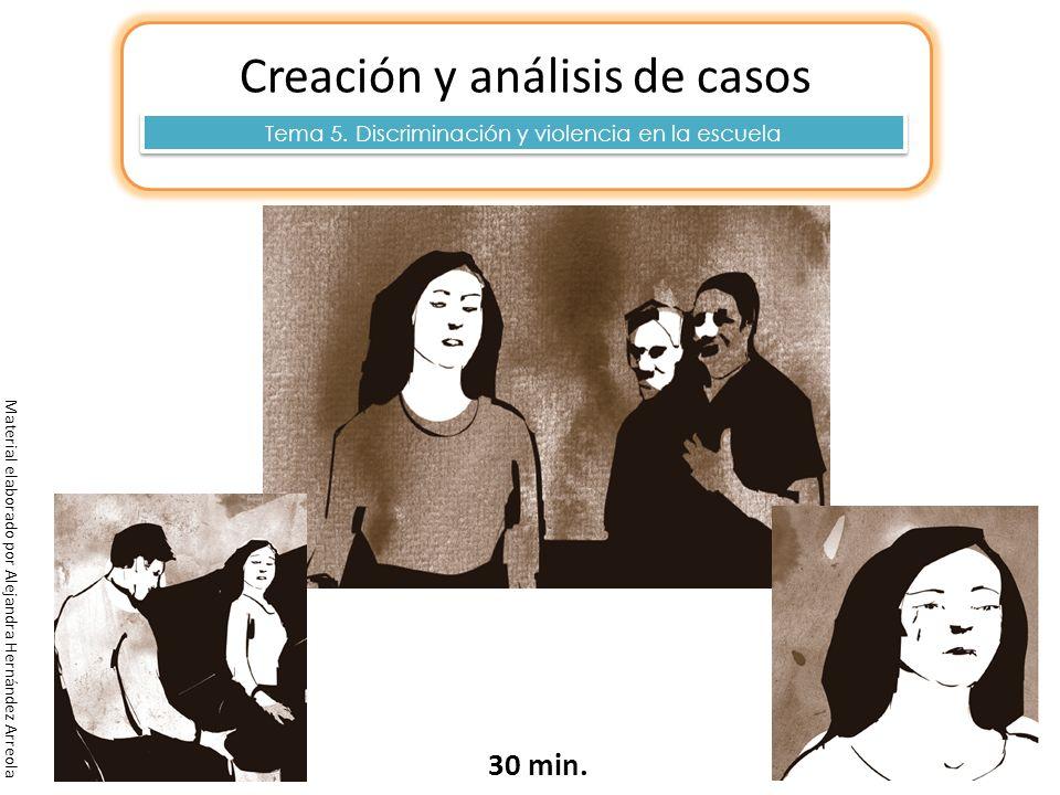 Creación y análisis de casos 30 min. Tema 5. Discriminación y violencia en la escuela