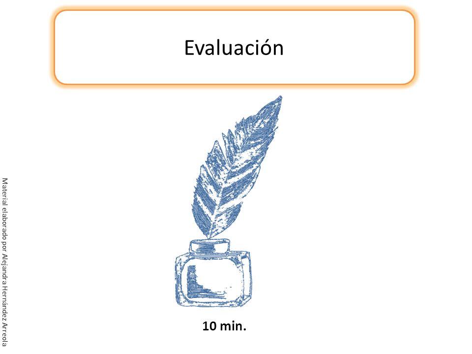 Evaluación 10 min. Material elaborado por Alejandra Hernández Arreola
