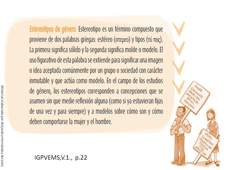 IGPVEMS,V.1., p.22 Material elaborado por Alejandra Hernández Arreola