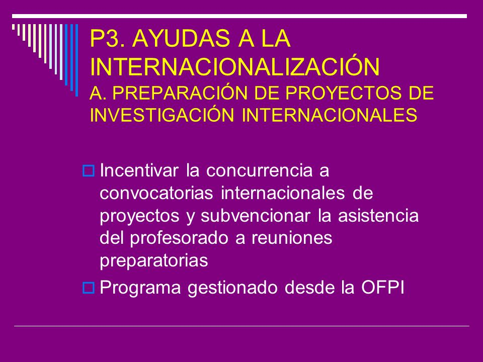 P3. AYUDAS A LA INTERNACIONALIZACIÓN A.