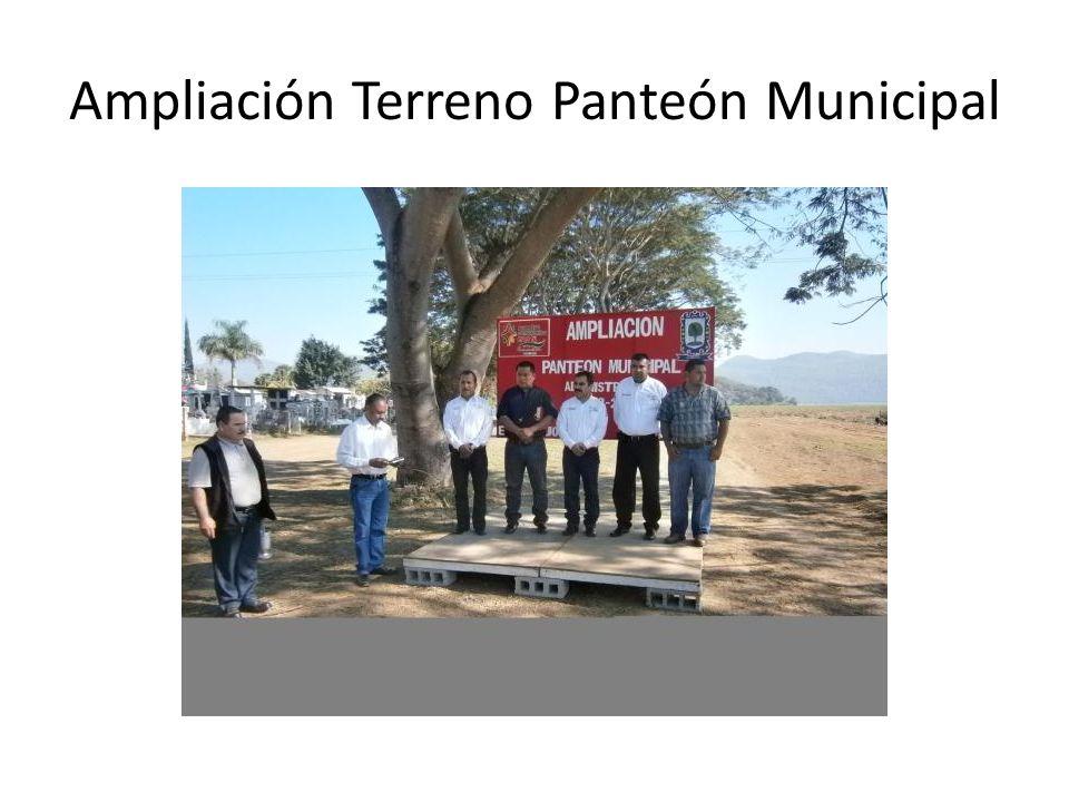 Ampliación Terreno Panteón Municipal