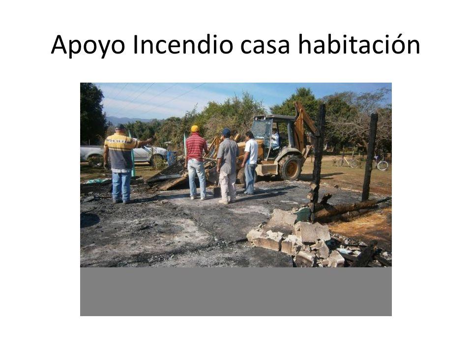 Apoyo Construcción vivienda col. Agr. El meco.