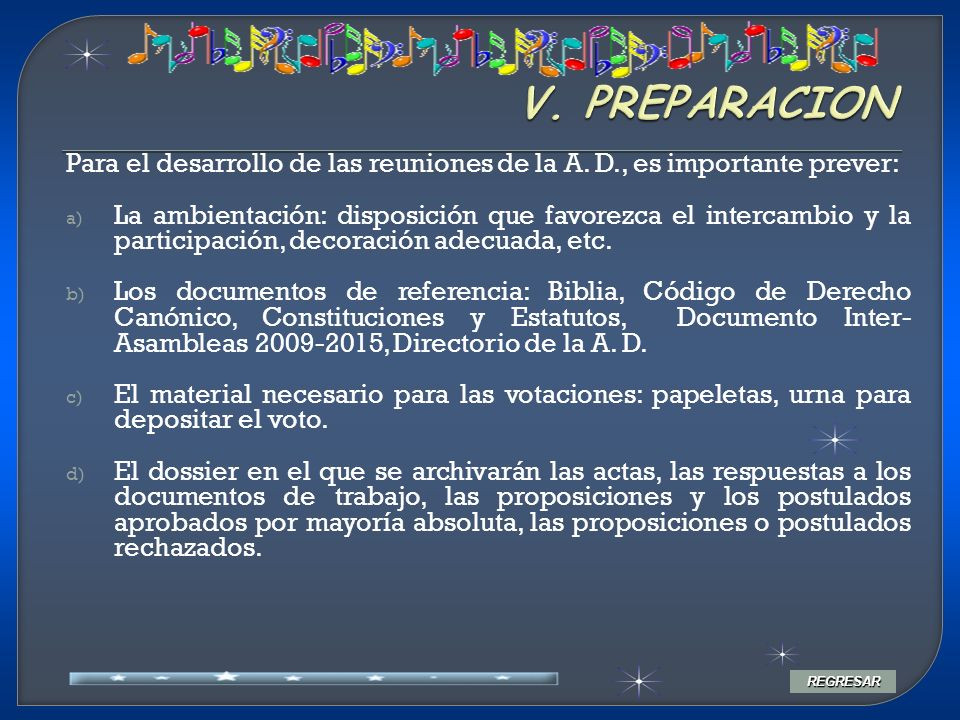 APERTURA Y PRIMERA SESION La A.D.