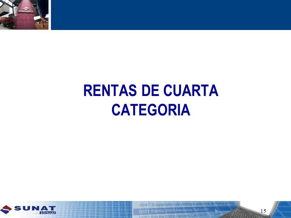 RENTAS DE CUARTA CATEGORIA 15
