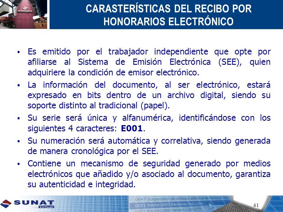 Es emitido por el trabajador independiente que opte por afiliarse al Sistema de Emisión Electrónica (SEE), quien adquiriere la condición de emisor ele