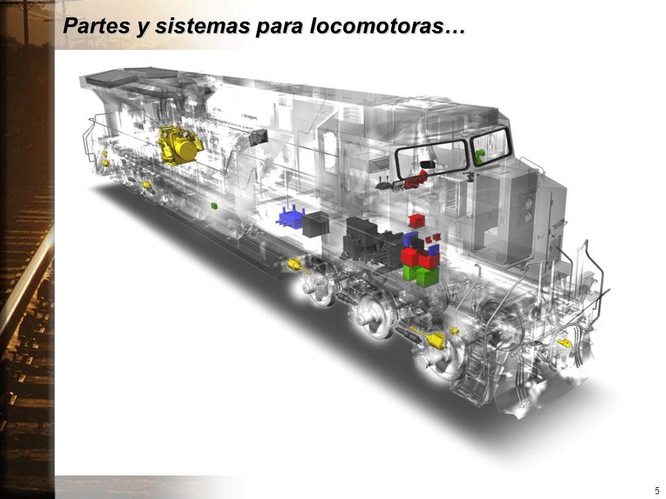 Partes y sistemas para locomotoras… 5