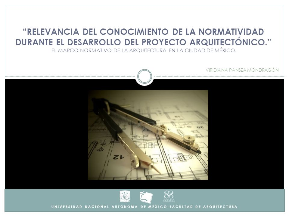 RESUMEN Para garantizar la VIABILIDAD DEL PROYECTO ARQUITECTÓNICO, el desarrollo de la Arquitectura se encuentra delimitado por un MARCO NORMATIVO que regula el proyecto y la progresión del mismo hasta su ejecución, así como los procesos técnico- administrativos que deban de llevarse a cabo.
