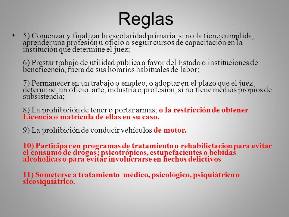 Reglas Art. 23 Pr Pn. Art 25 NCPP.- Al resolver la suspensión, el juez o tribunal someterá al imputado a una evaluación para el tratamiento correspond
