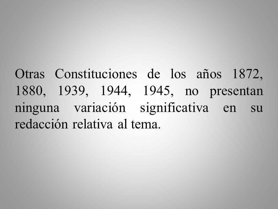 FUNDAMENTO CONSTITUCIONAL DE LOS RAC Aspecto Histórico-jurídico: Constitución de 1824. Otro ejemplo: CONSTITUCION SALVADOREÑA De 1841, titulo 16, Art.