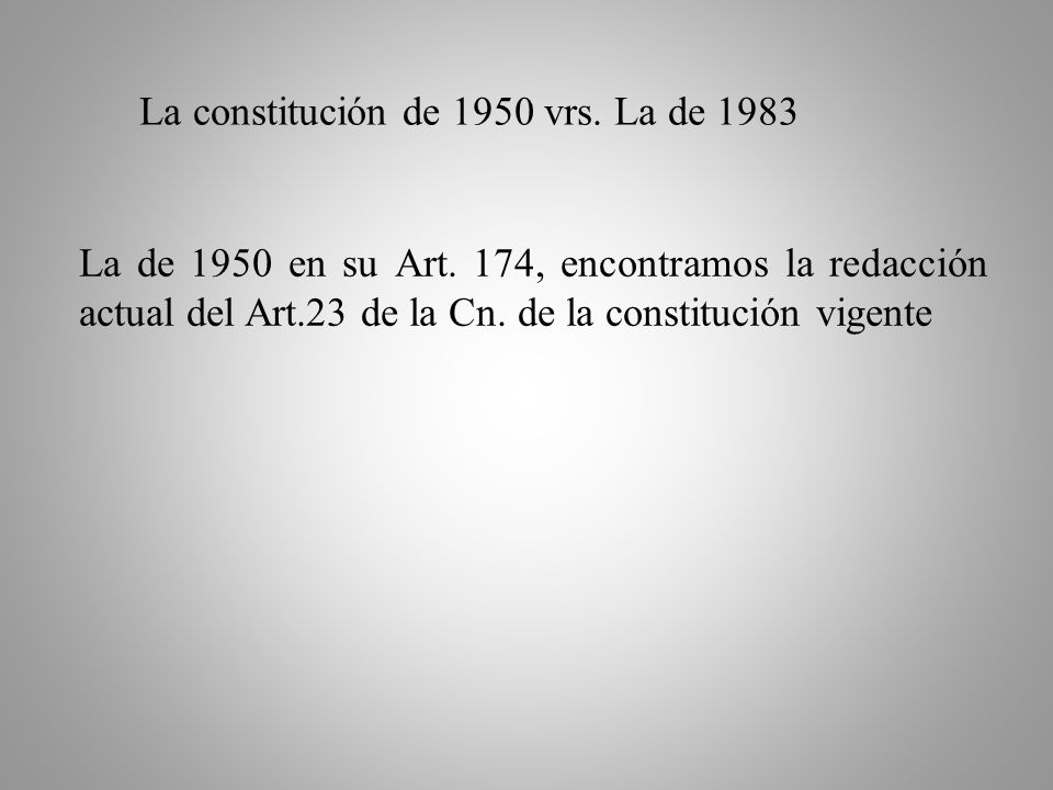 Otras Constituciones de los años 1872, 1880, 1939, 1944, 1945, no presentan ninguna variación significativa en su redacción relativa al tema.