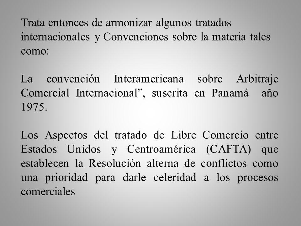 Lo que ocurre con la Ley de Mediación, Conciliación y Arbitraje, es que se dedicó a tecnificar y modernizar en método del Arbitraje comercial, entre o