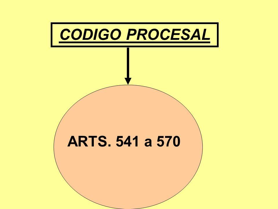 CODIGO PROCESAL ARTS. 541 a 570