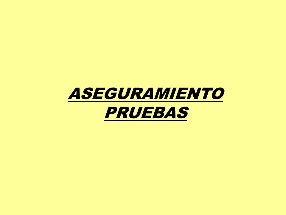 ASEGURAMIENTO PRUEBAS