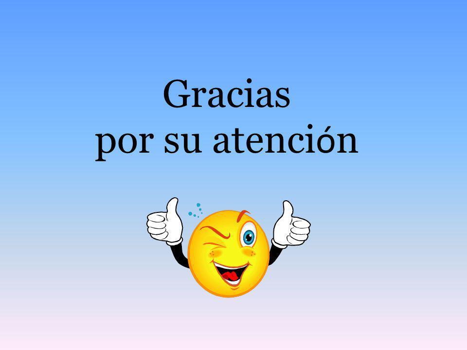 Gracias por su atenci ó n