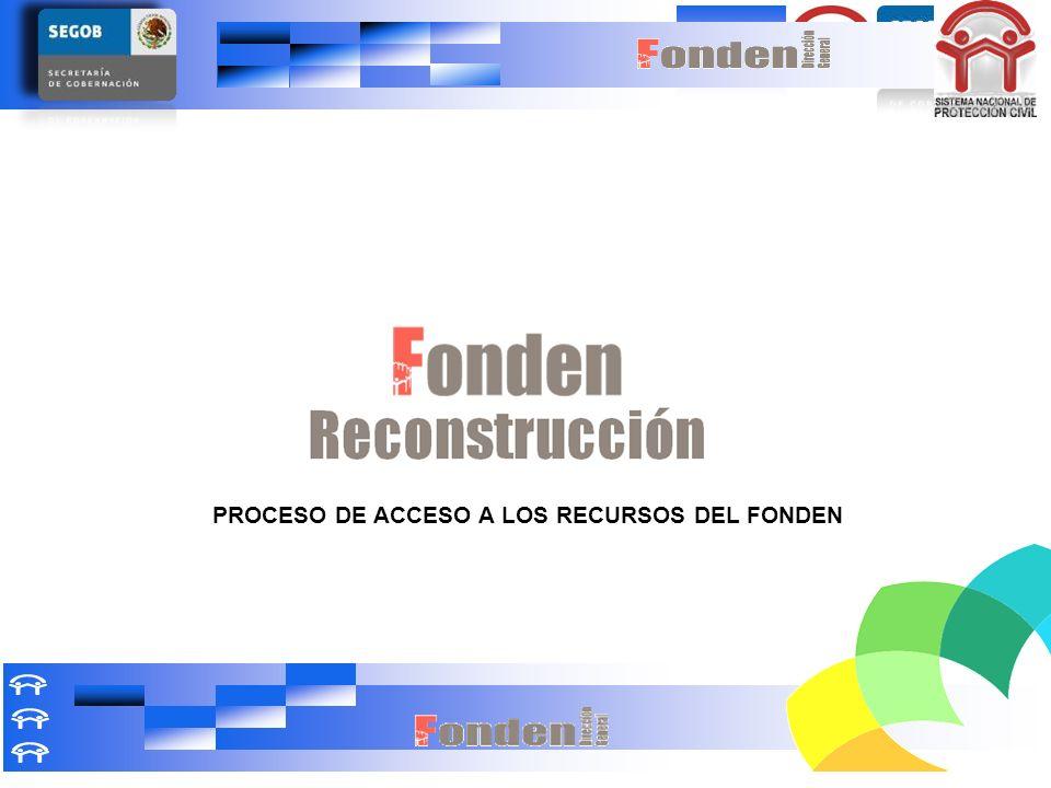 PROCESO DE ACCESO A LOS RECURSOS DEL FONDEN