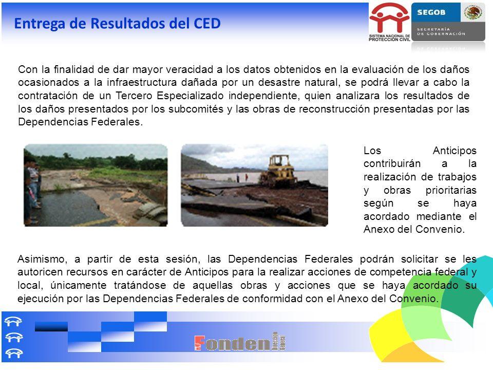 Con la finalidad de dar mayor veracidad a los datos obtenidos en la evaluación de los daños ocasionados a la infraestructura dañada por un desastre na