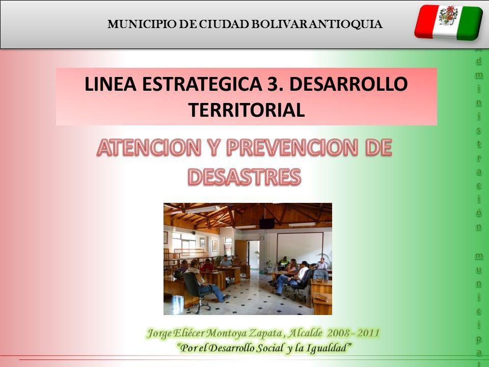 MUNICIPIO DE CIUDAD BOLIVAR ANTIOQUIA LINEA ESTRATEGICA 3. DESARROLLO TERRITORIAL