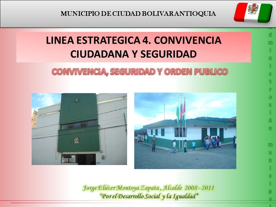 CONVIVENCIA, SEGURIDAD Y ORDEN PUBLICO LINEA ESTRATEGICA 4.