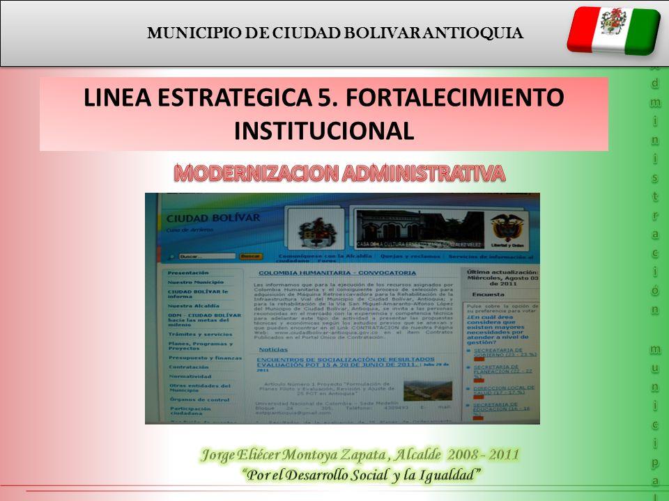 MODERNIZACION ADMINISTRATIVA LINEA ESTRATEGICA 5.