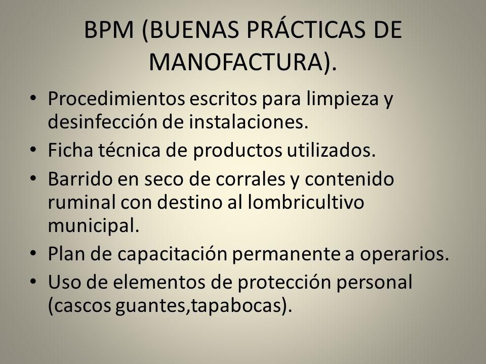 BPM (BUENAS PRÁCTICAS DE MANOFACTURA).