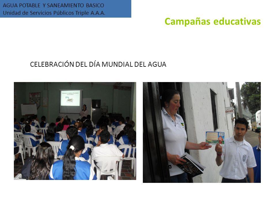 CELEBRACIÓN DEL DÍA MUNDIAL DEL AGUA AGUA POTABLE Y SANEAMIENTO BASICO Unidad de Servicios Públicos Triple A.A.A.