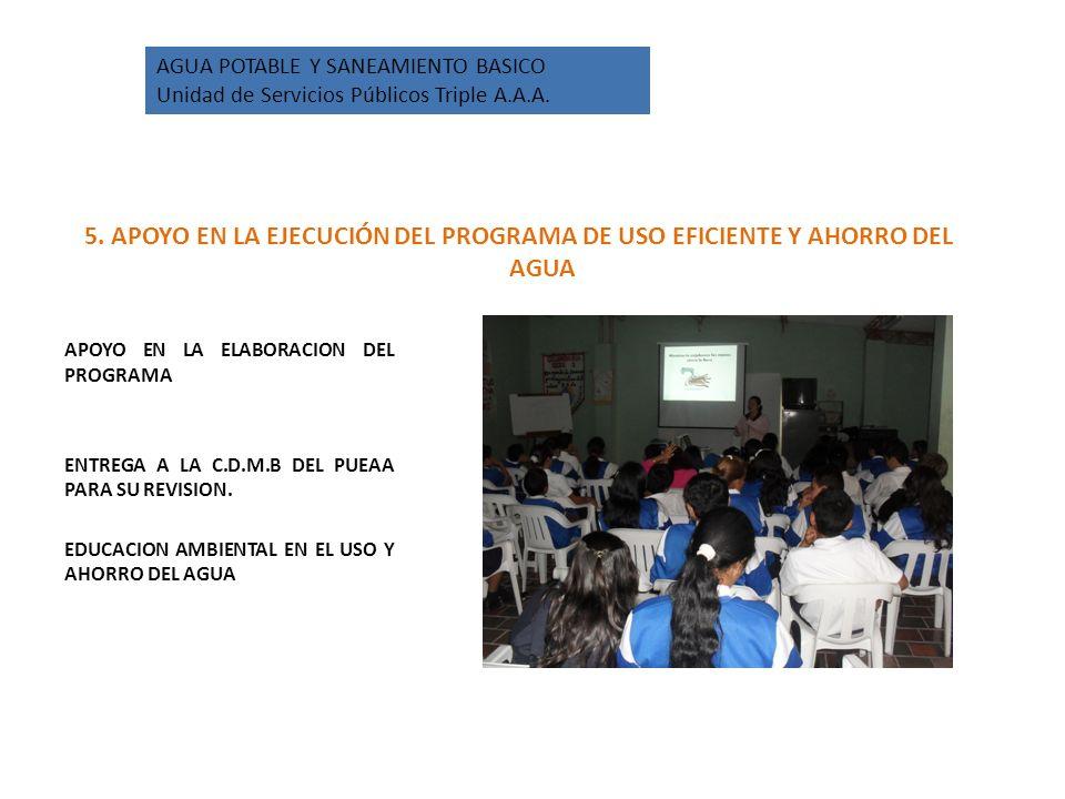 PUEAA APOYO EN LA ELABORACION DEL PROGRAMA ENTREGA A LA C.D.M.B DEL PUEAA PARA SU REVISION.