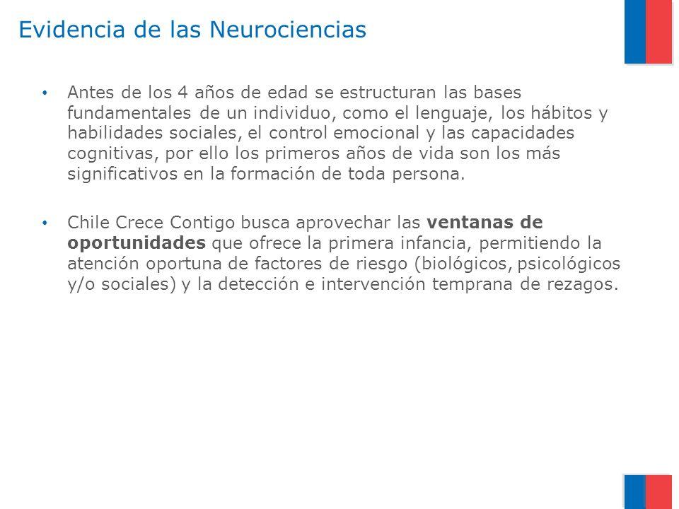Evidencia de las Neurociencias Antes de los 4 años de edad se estructuran las bases fundamentales de un individuo, como el lenguaje, los hábitos y hab
