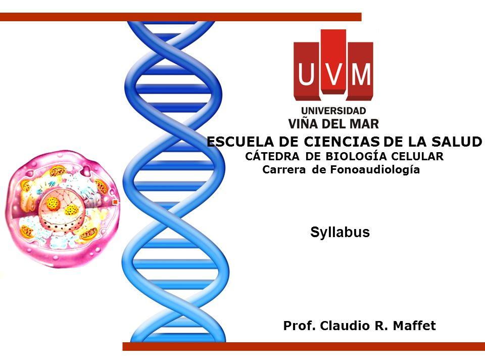 Syllabus Prof. Claudio R. Maffet ESCUELA DE CIENCIAS DE LA SALUD CÁTEDRA DE BIOLOGÍA CELULAR Carrera de Fonoaudiología