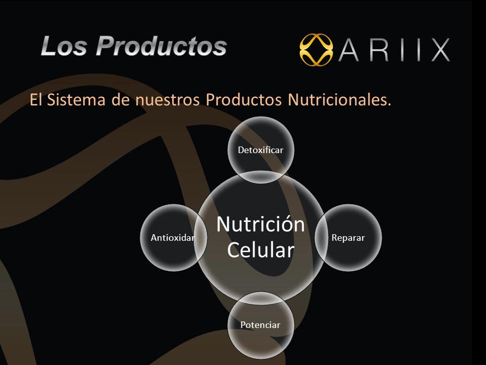 El Sistema de nuestros Productos Nutricionales. Nutrición Celular DetoxificarRepararPotenciarAntioxidar