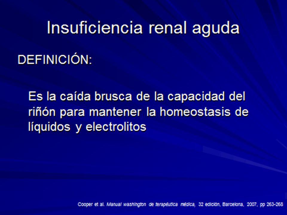 INSUFICIENCIA RENAL AGUDA COMPLICACIONES A.