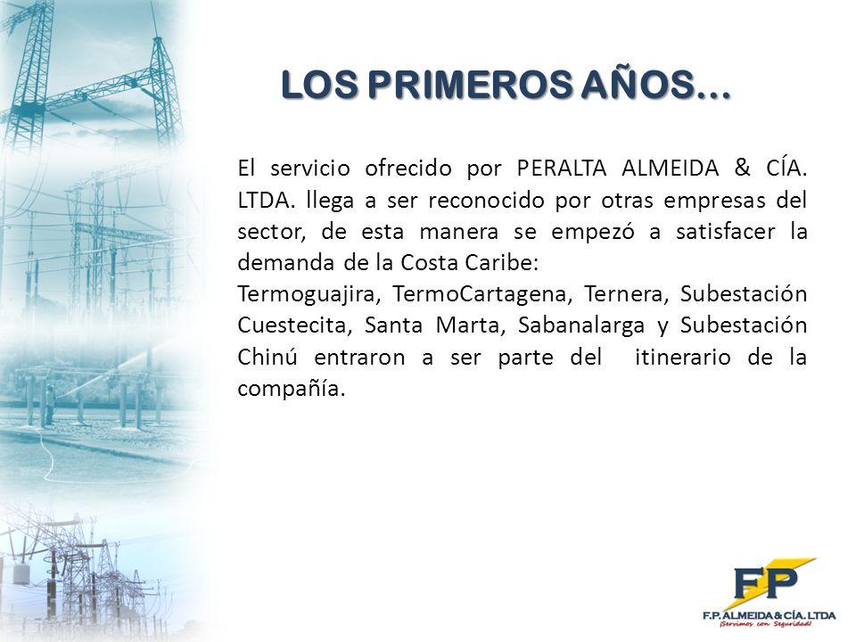 LOS PRIMEROS AÑOS… El servicio ofrecido por PERALTA ALMEIDA & CÍA. LTDA. llega a ser reconocido por otras empresas del sector, de esta manera se empez