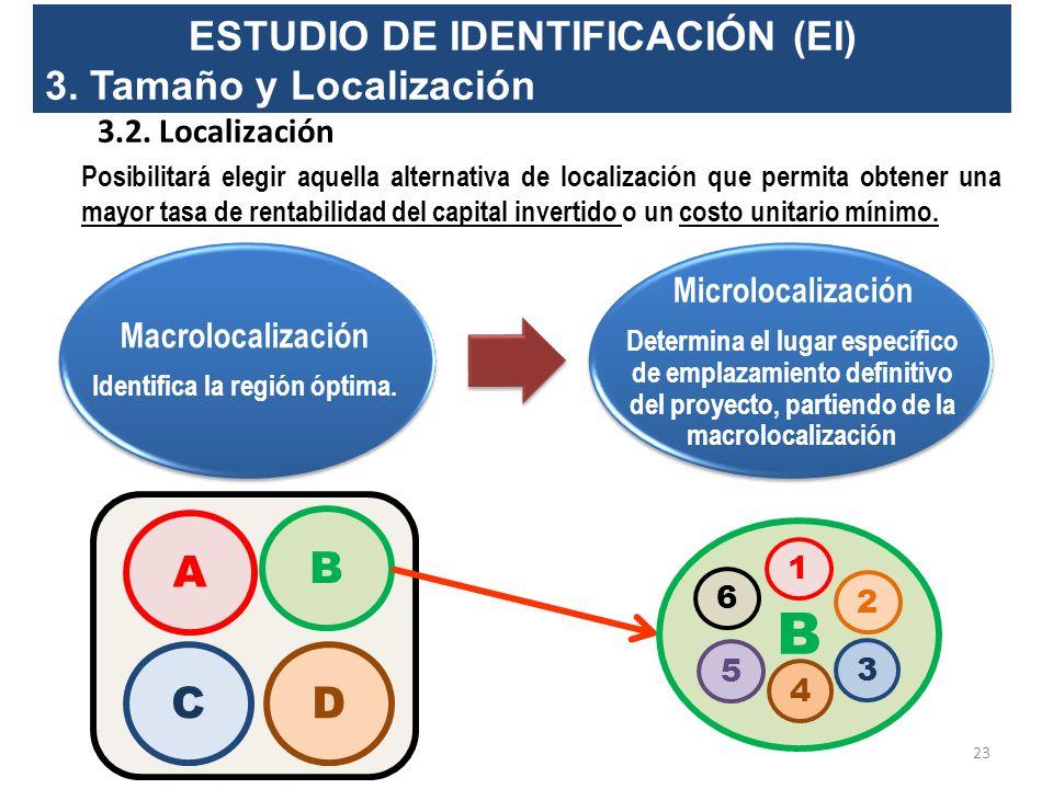 ESTUDIO DE IDENTIFICACIÓN (EI) 3. Tamaño y Localización 3.1. Tamaño ¿Qué se entiende por tamaño del proyecto? Es la capacidad de producción de bienes